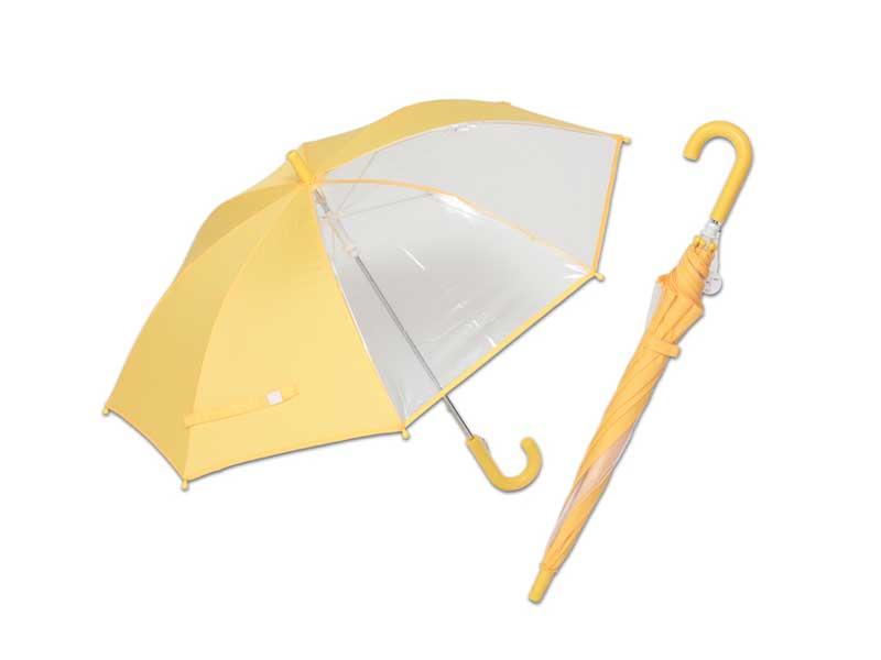 前が見えるキッズ手開き傘