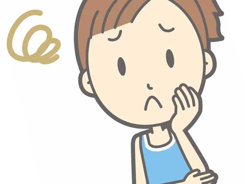 ストレスが溜まっている妊婦さんのイラスト