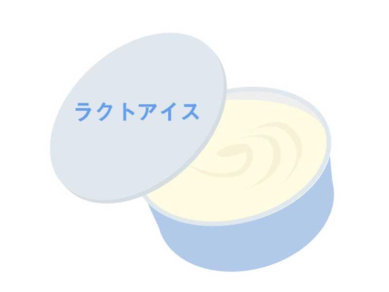ラクトアイスのイラスト