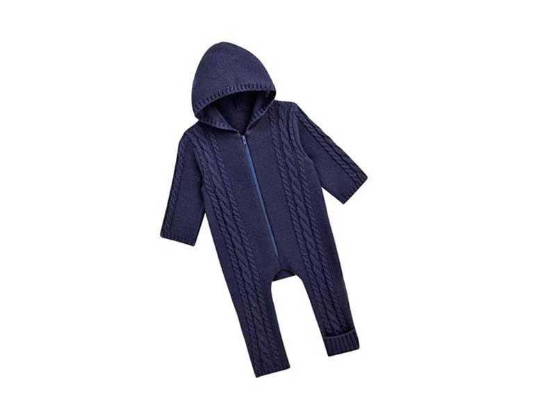 ケーブル編みニットジャンプスーツ(日本製)