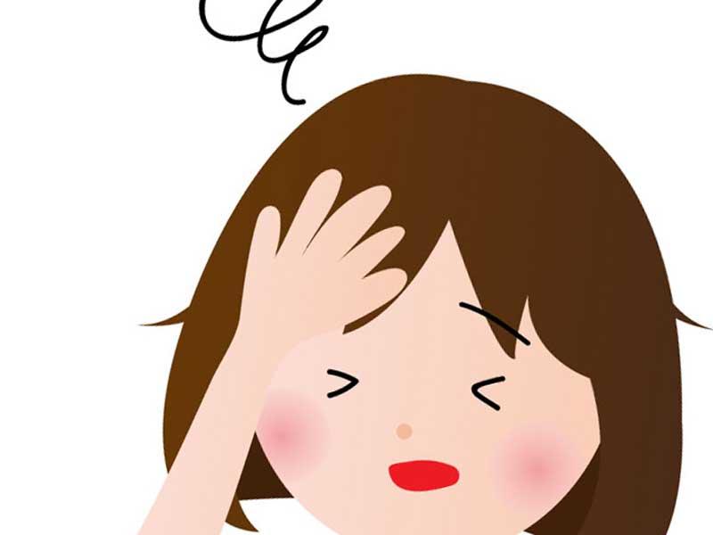 頭痛症状の妊婦さん