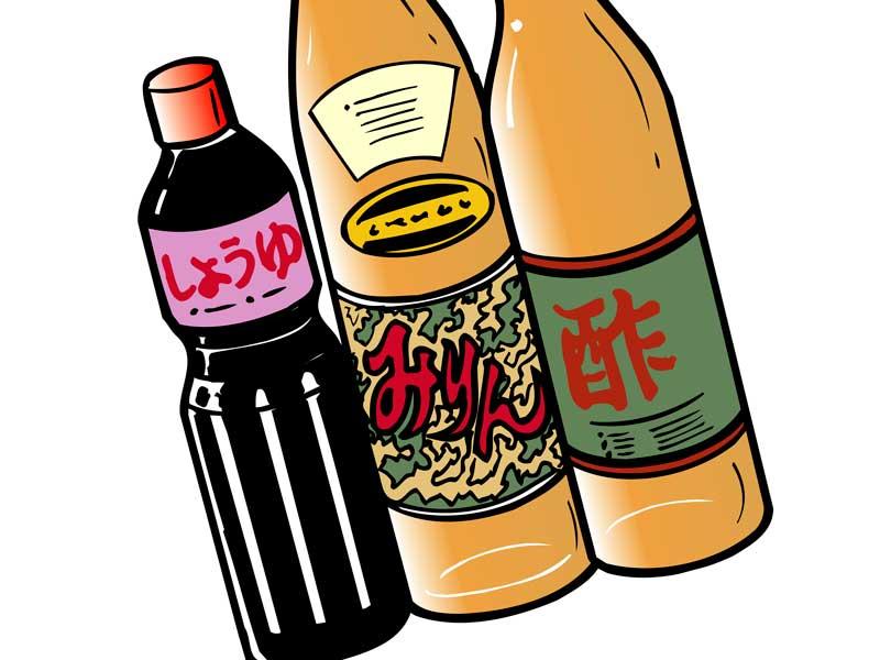 醤油など調味料のイラスト