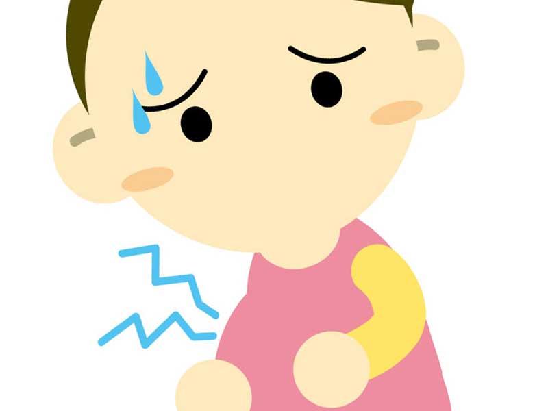 前駆陣痛が始まってる妊婦さんのイラスト