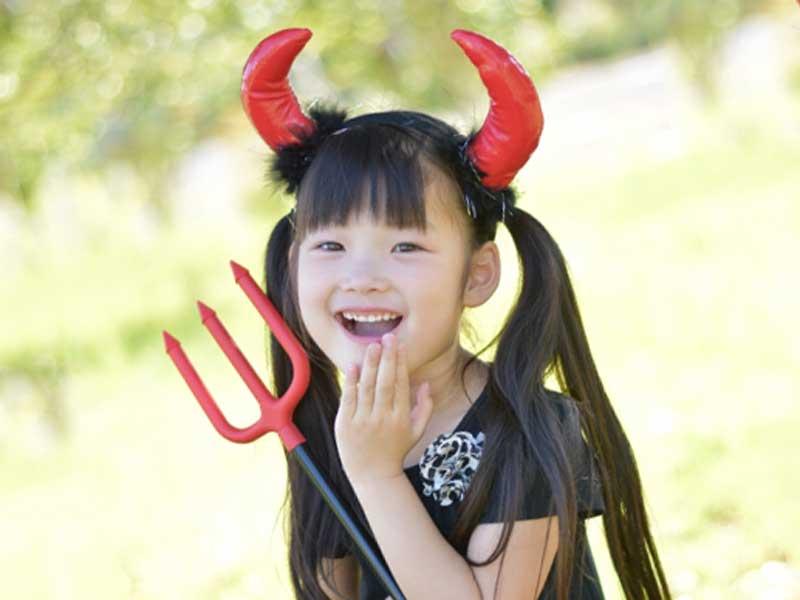 ハロウィン仮装をしている女の子