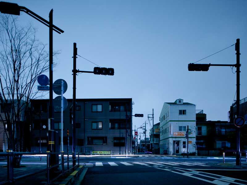 停電した街
