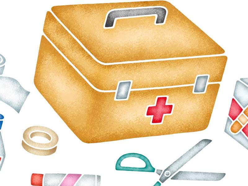常備薬の薬箱のイラスト