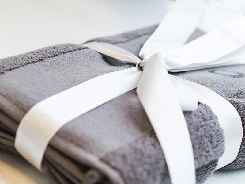 贈り物のバスタオル