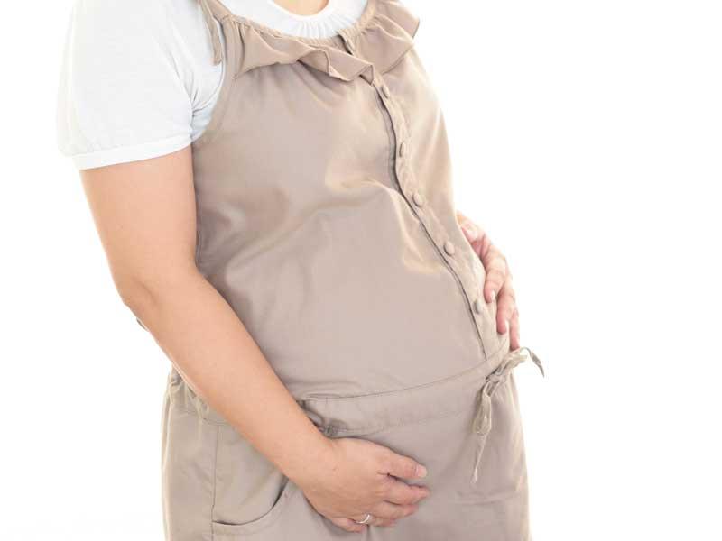 臨月の妊婦さん