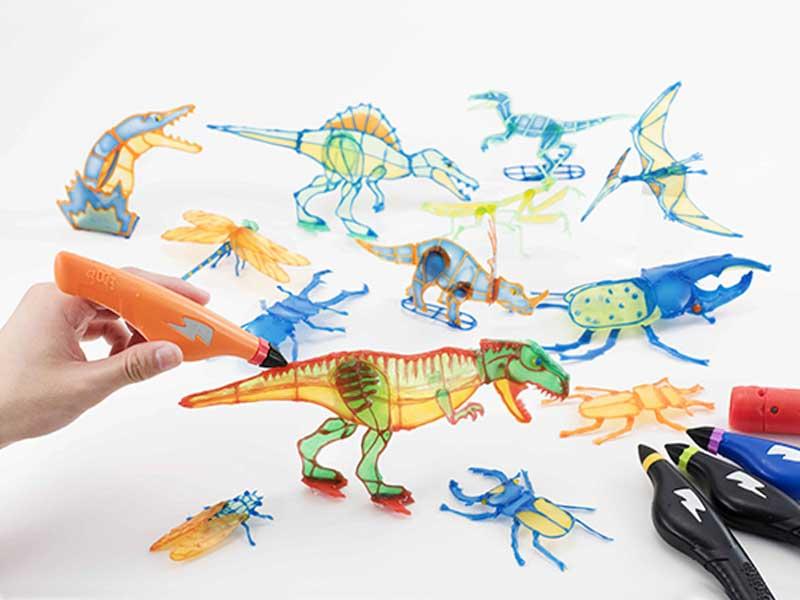 3Dドリームアーツペン 恐竜&昆虫セット