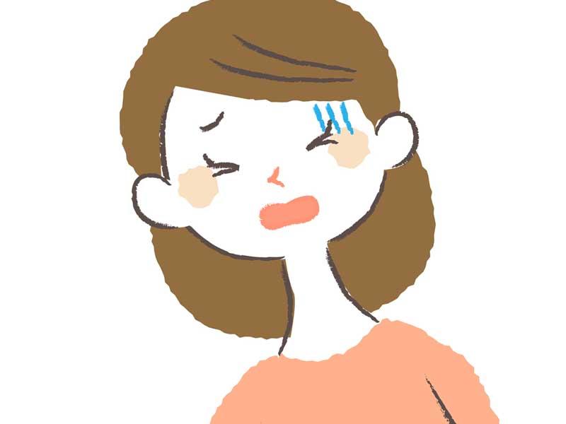 陣痛が長い妊婦さんのイラスト