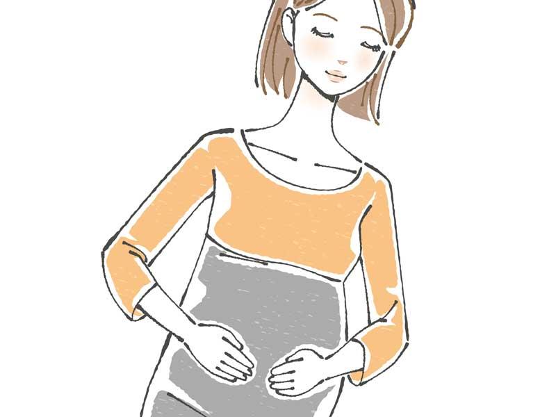 陣痛が来ない妊婦さんのイラスト