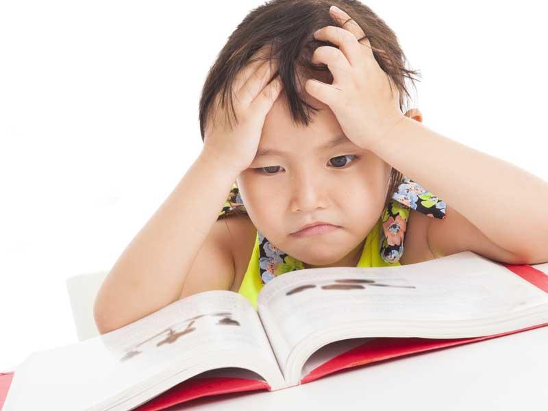 勉強が嫌いな女の子