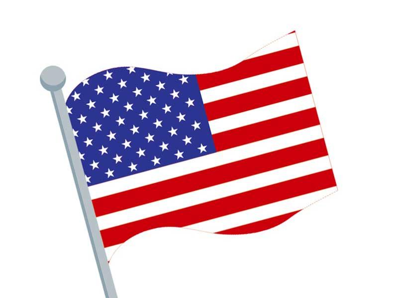 アメリカの国旗にイラスト