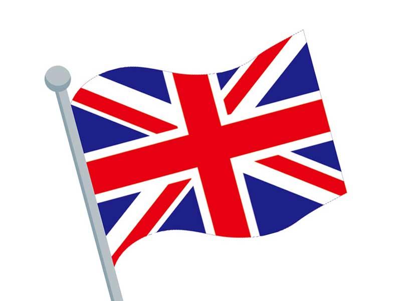 イギリスの国旗にイラスト