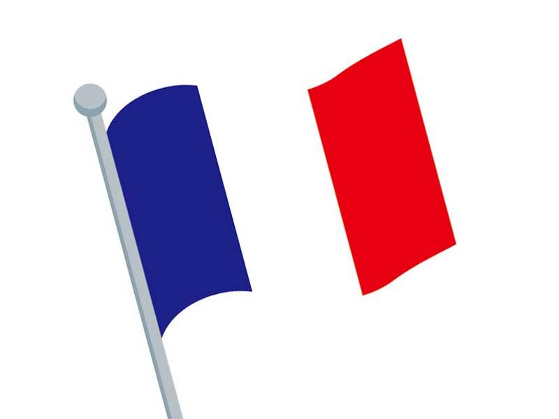 フランスの国旗にイラスト