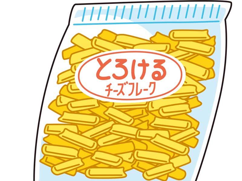 とろけるチーズのイラスト