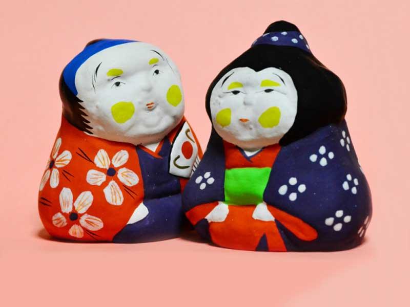 老夫婦の人形