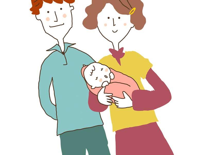 赤ちゃんの家族のイラスト