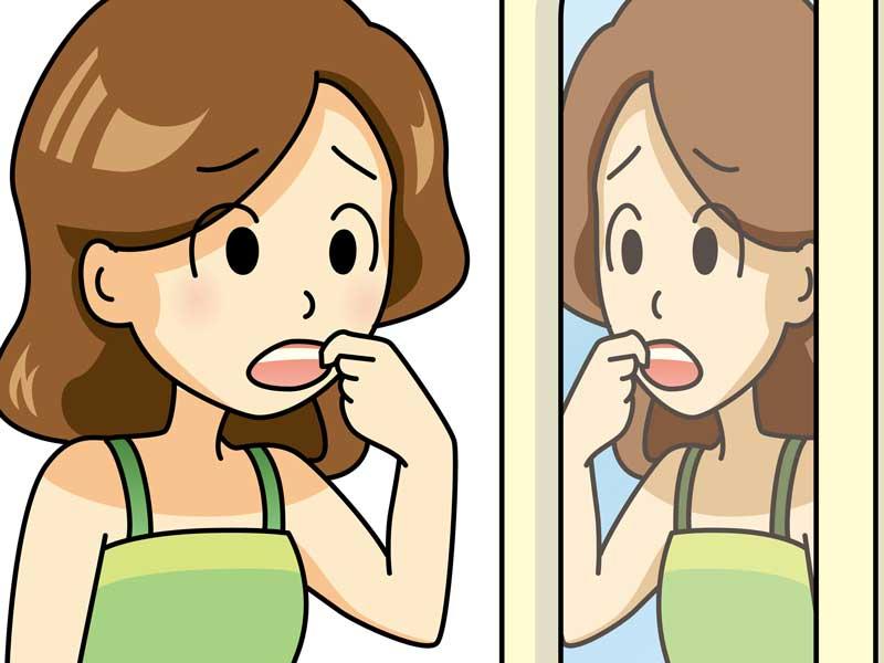 口内炎のお母さんのイラスト
