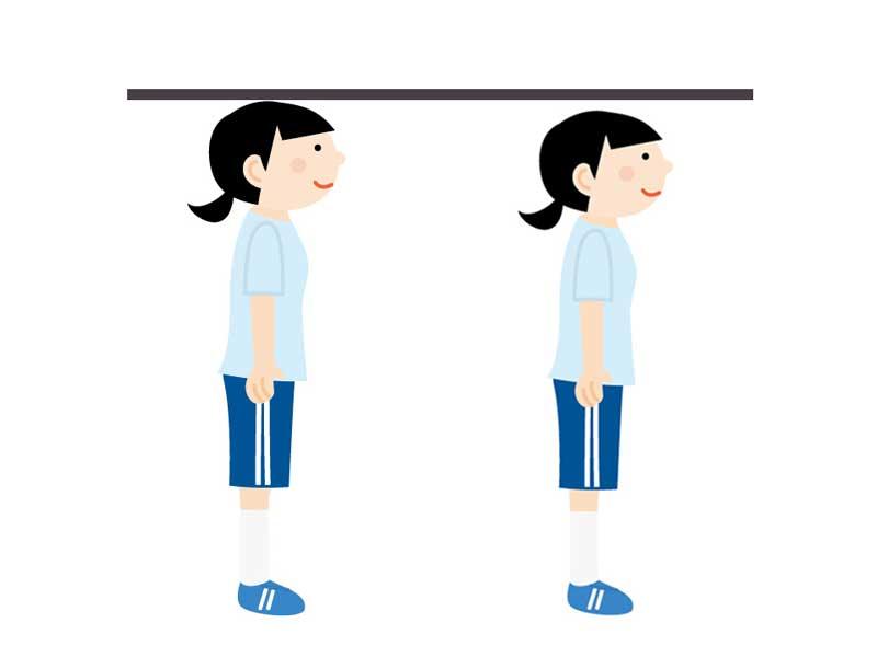 身長が縮んでいた子供のイラスト
