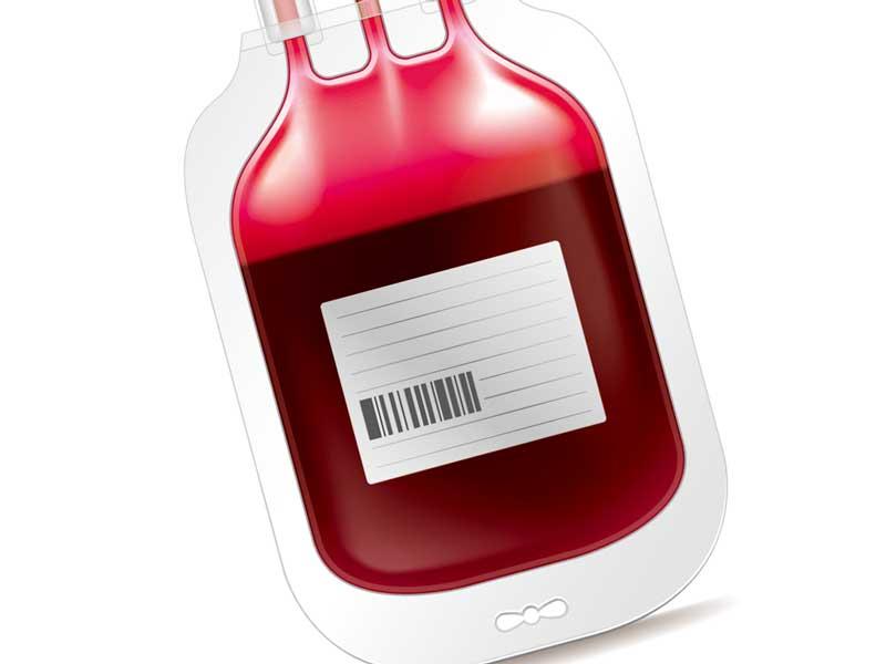 輸血のイメージのイラスト