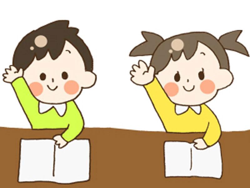 授業中の子供達のイラスト