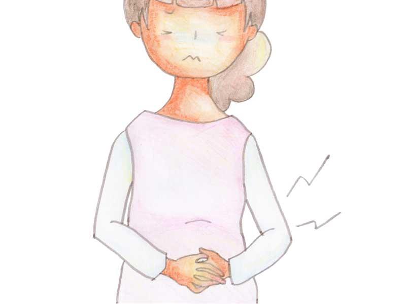 便秘の妊婦さんのイラスト