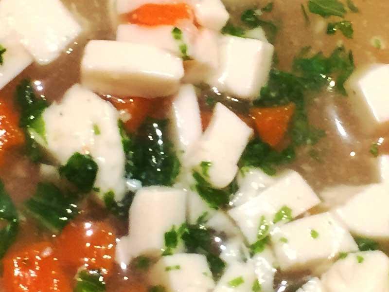 水菜と豆腐のだし煮