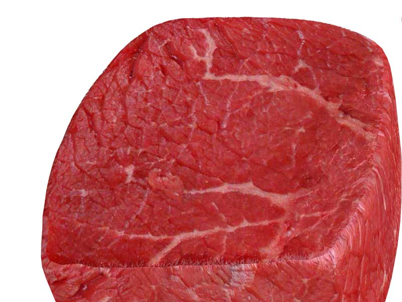 生の肉のイラスト