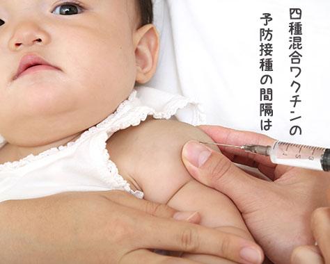 四種混合ワクチンの予防接種の間隔~同時接種はいつから?