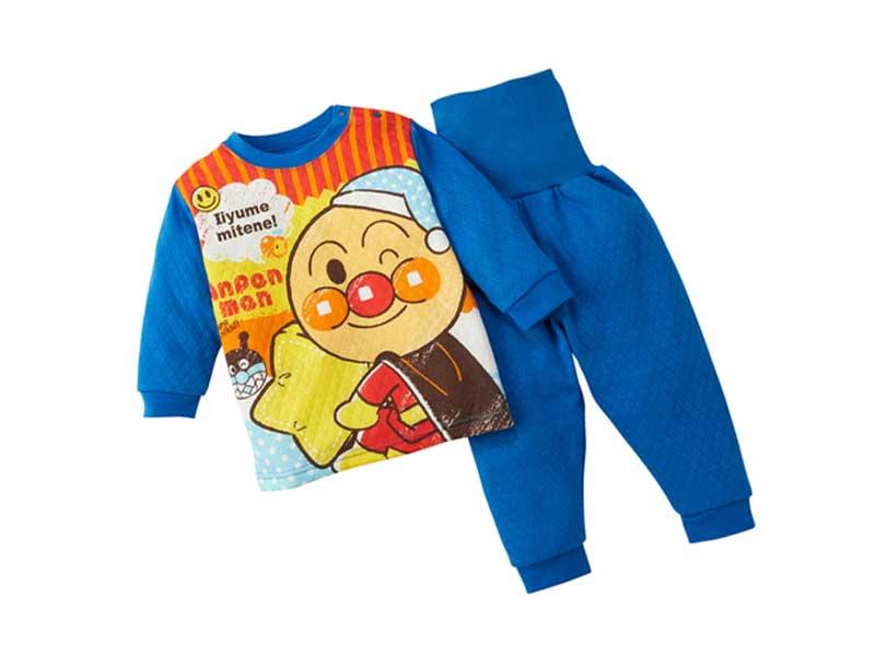 アンパンマンニットキルト腹巻付パジャマ