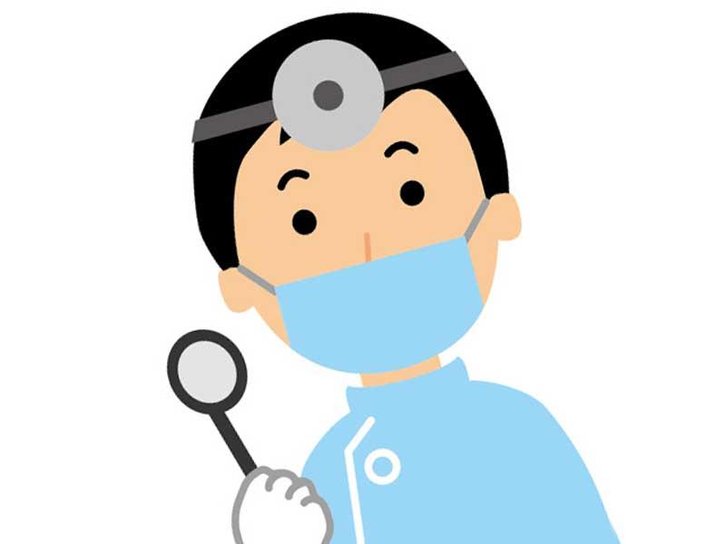 耳鼻科の医師のイラスト