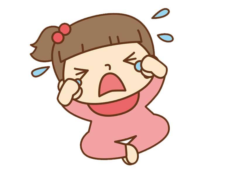 泣き叫ぶ女の子のイラスト