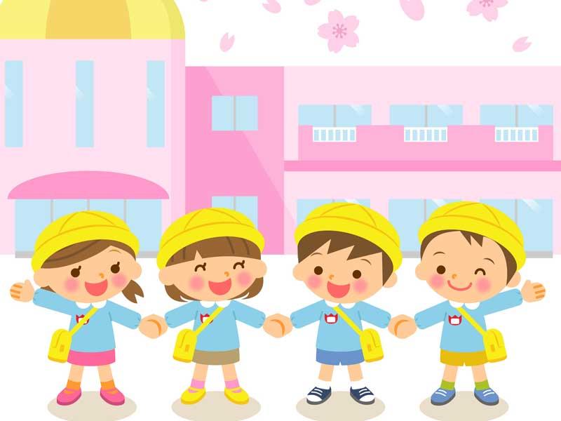 幼稚園の子供達のイラスト