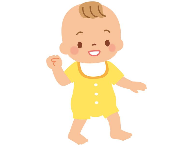 歩く赤ちゃんのイラスト