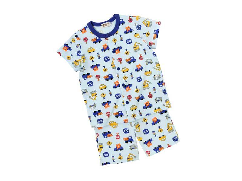 ドライブビーンズくん前開き半袖パジャマ