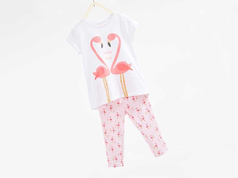 フラミンゴデザインパジャマセット