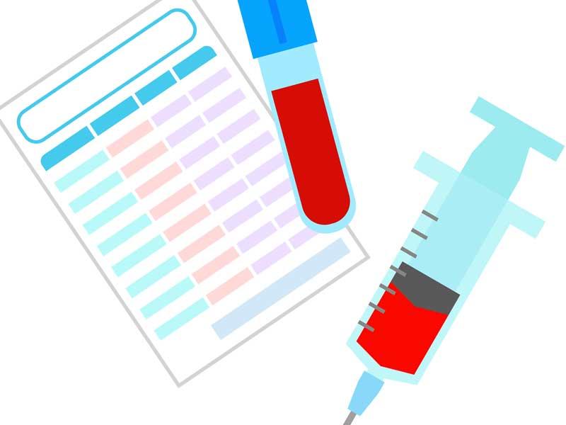 血液検査のイラスト