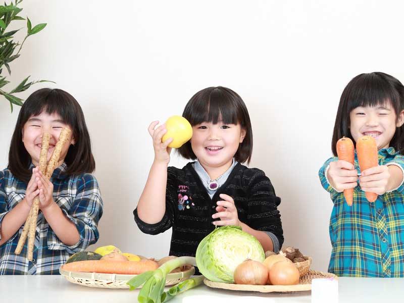 野菜と子供達