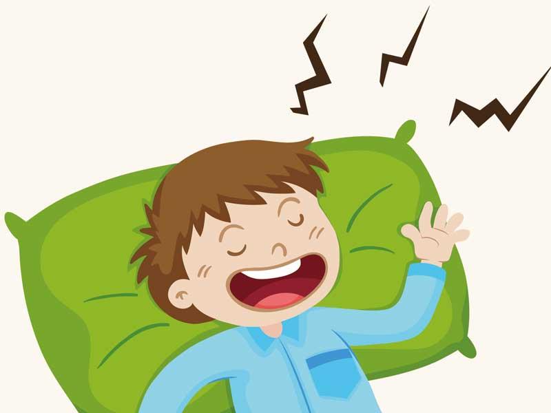 いびきをしている子供のイラスト
