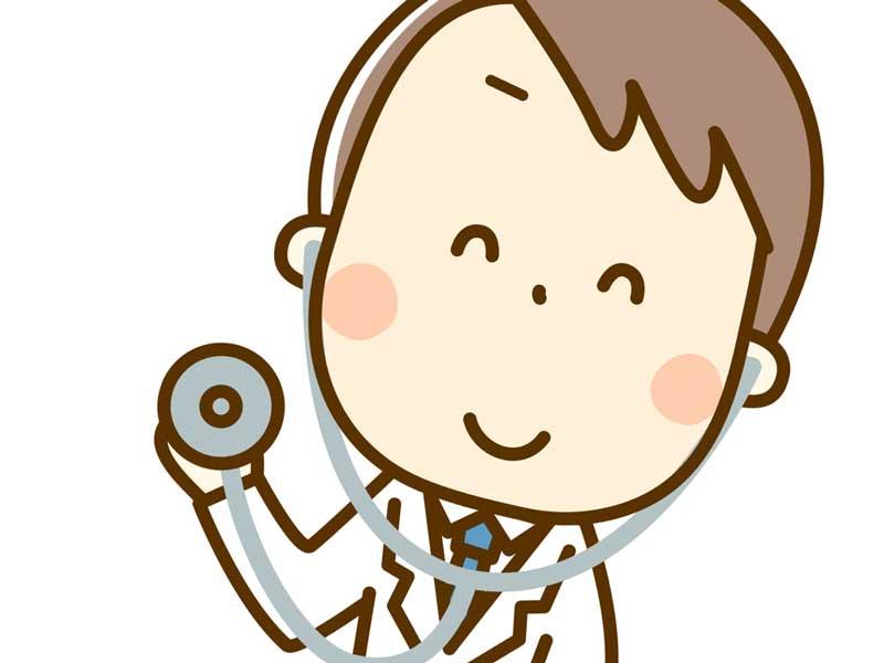 聴診器を持つ医師のイラスト