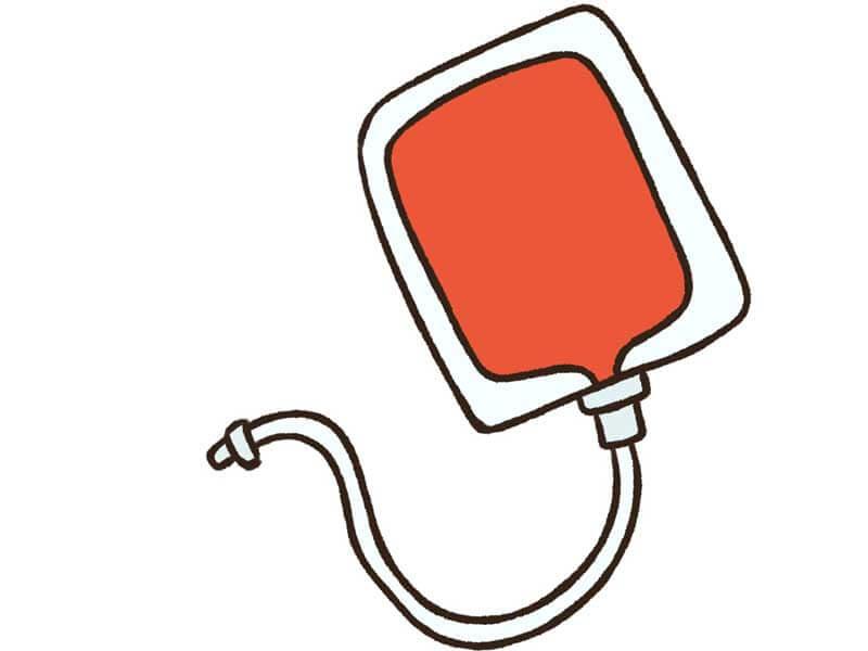 輸血用血液のイラスト