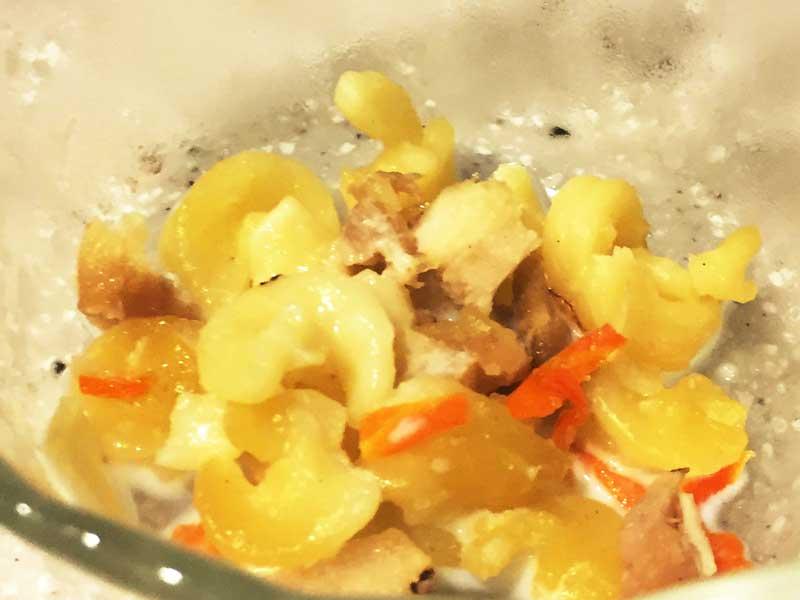 マカロニと鶏肉のミルク煮