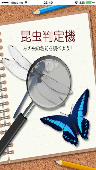 昆虫判定機 (アプリ画面キャプチャ)