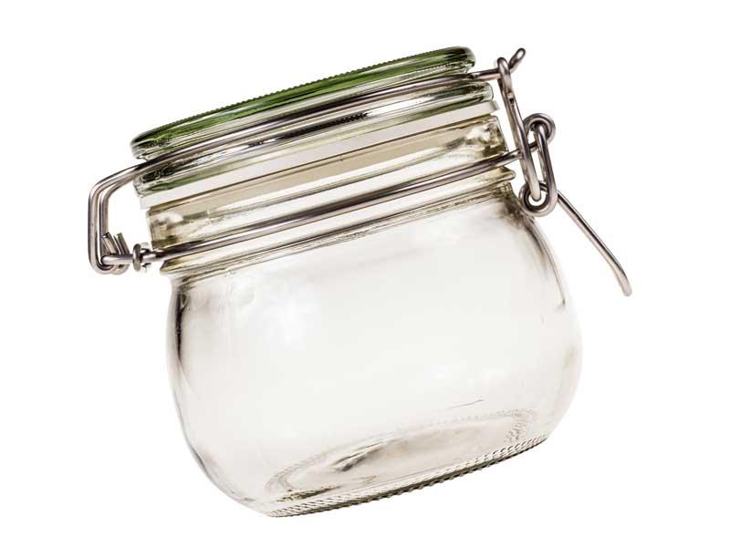 密封されたガラス瓶