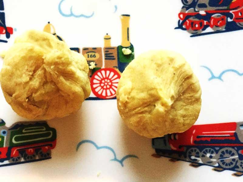 きなことサツマイモの茶巾