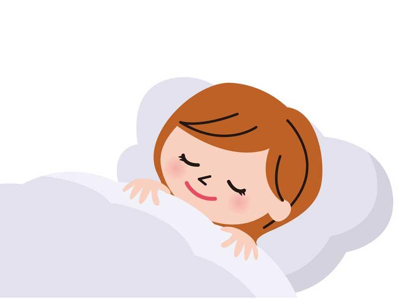 寝ている妊婦さんのイラスト