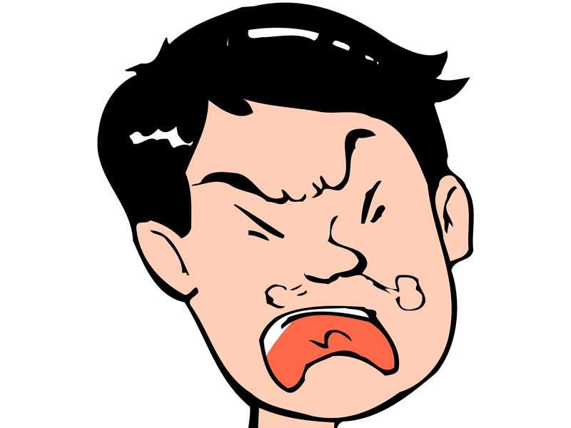 怒っている夫のイラスト