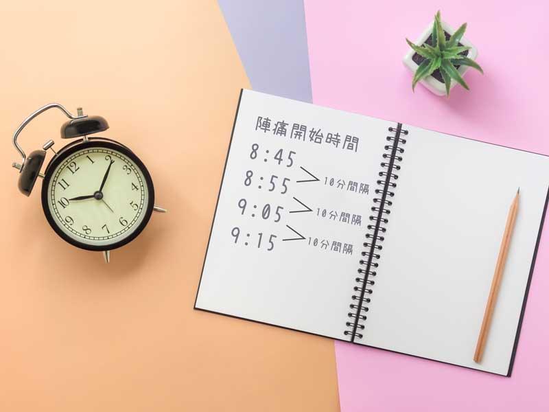 時計とメモ