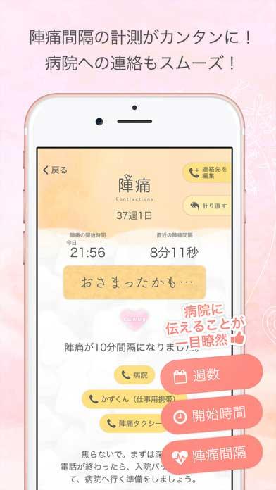 陣痛・胎動カウンター (サイト画面キャプチャ)